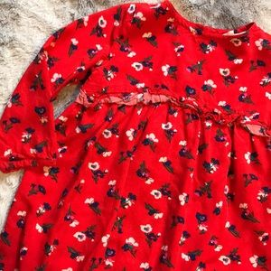 Crazy 8 red floral dress 2t ruffle detail